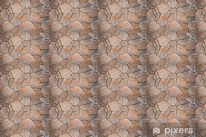 Vinyltapete nach Maß Hintergrund aus Pflastersteinen, unregelmäßige Natursteine - Themen
