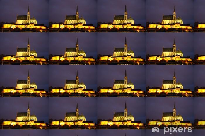Tapeta na wymiar winylowa Brno katedra w nocy - Budynki użyteczności publicznej
