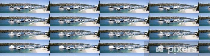 Papier peint vinyle sur mesure Moyen Harbour Marina panorama - Océanie