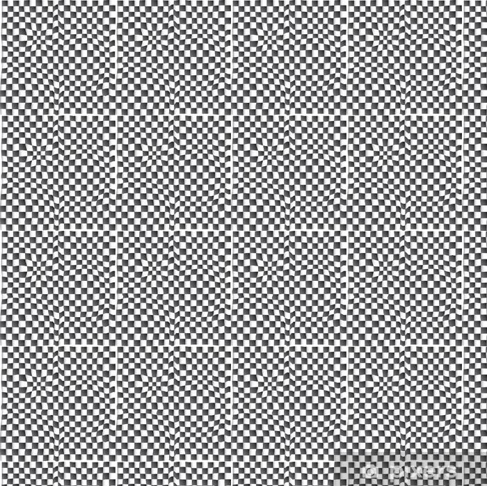 Tapeta na wymiar winylowa Efekt wizualny przy szachownicy - Abstrakcja