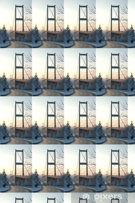 Tapeta na wymiar winylowa Bosphorus Bridge w śniegu - Bliski Wschód