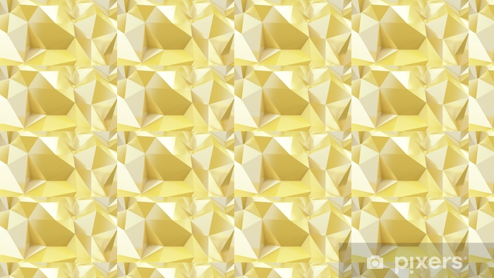 Gold Abstract Crystal Triangle Poly Pattern Background 3d Illustration Wallpaper Vinyl Custom Made