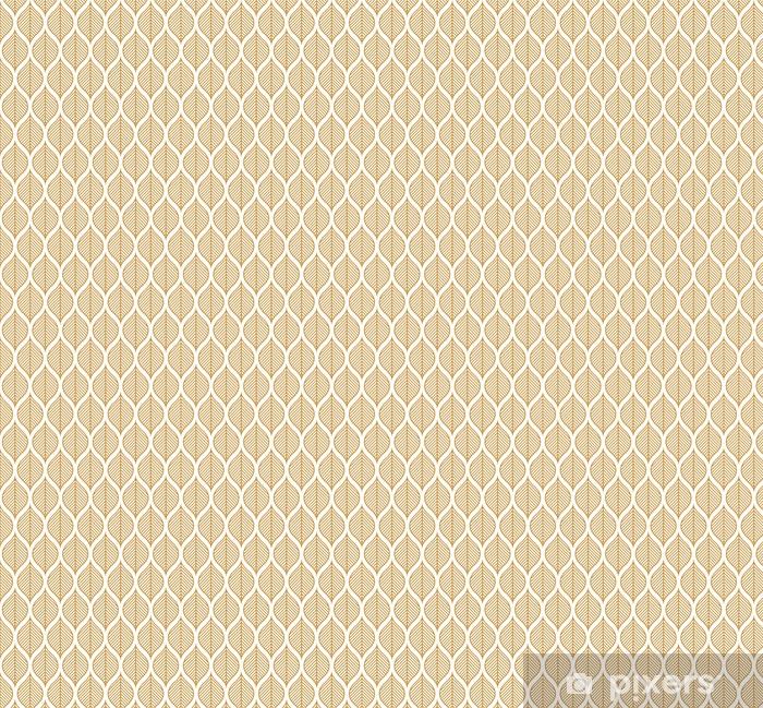 Vinyl behang, op maat gemaakt Vector geometrische blad naadloze patroon. abstracte bladeren textuur. - Grafische Bronnen