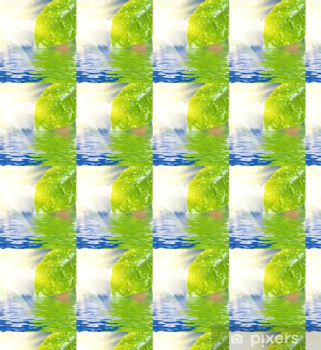 Papier peint vinyle sur mesure L'eau verte congé - Fleurs