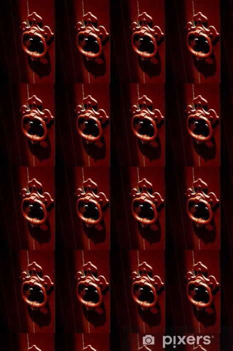 Vinylová tapeta na míru Starý styl červený zábradlí a dveře Hertiage buil - Oceánie