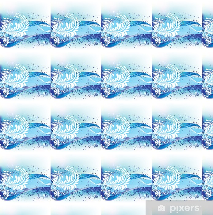 Papier peint à motifs vinyle Grunge floral background. - Textures
