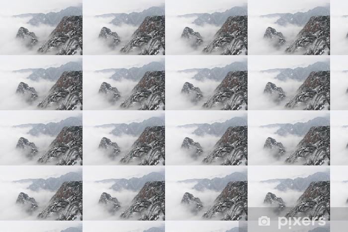 黄山 Personlige vinyltapet - Bjerge
