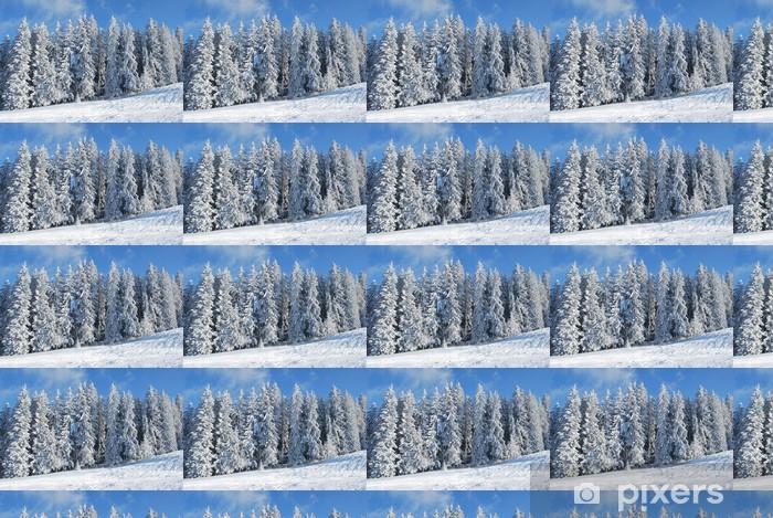 Tapeta na wymiar winylowa Snowy drzew - Drzewa