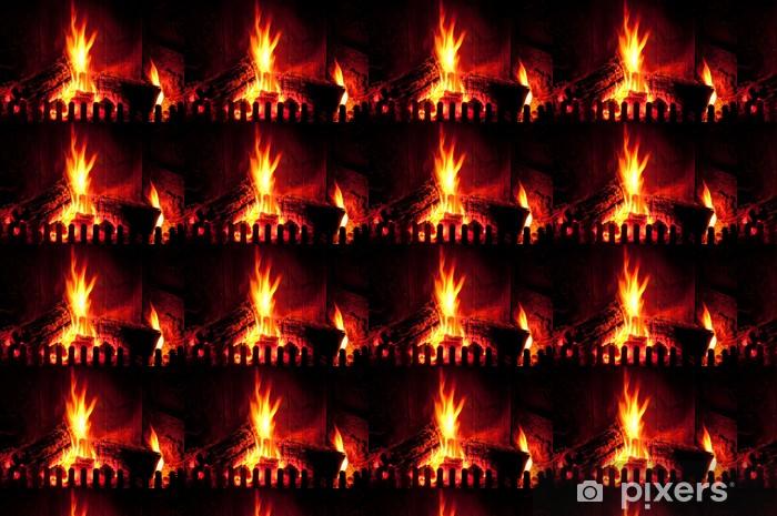 Måttanpassad vinyltapet Fire - Texturer