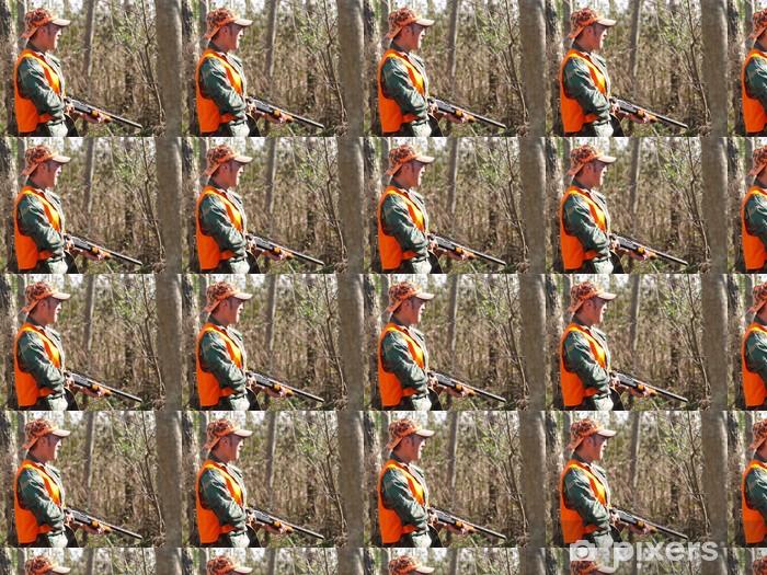 Papier peint vinyle sur mesure Chasse de l'homme dans les bois - Autres
