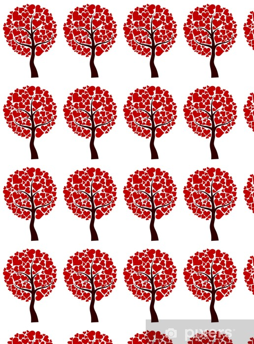 Tapeta na wymiar winylowa Valentines tree background, vector - Tła