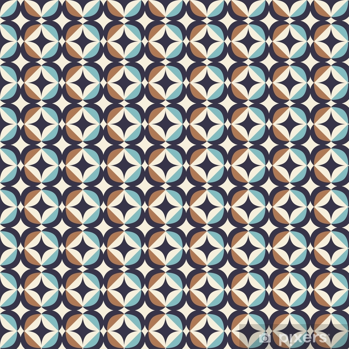 Sømløs retro mønster i skandinavisk stil med geometriske elementer