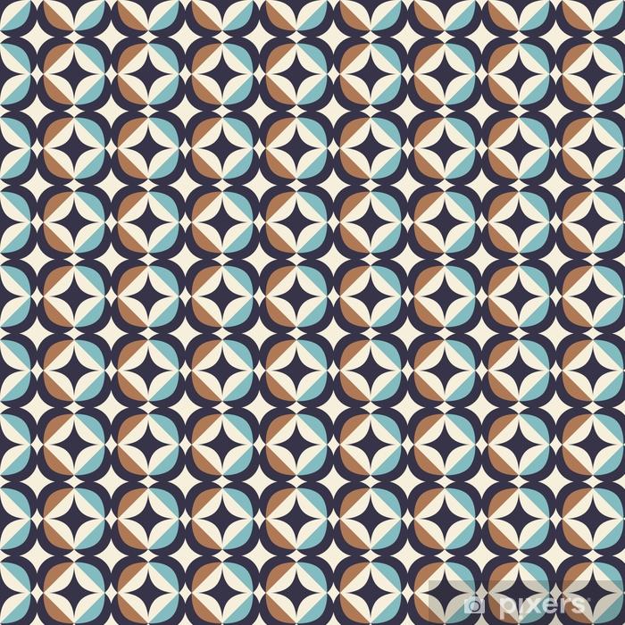 Bez szwu retro wzór w skandynawskim stylu z elementami geometrycznymi