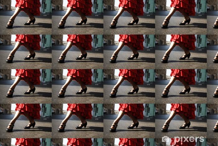 Papier peint vinyle sur mesure Flamenco danseuse - Thèmes