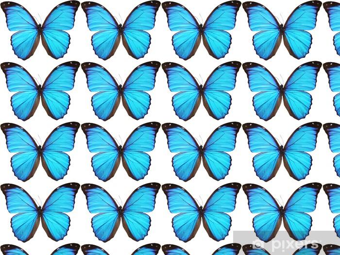 Blue Butterfly Wallpaper Vinyl Custom Made