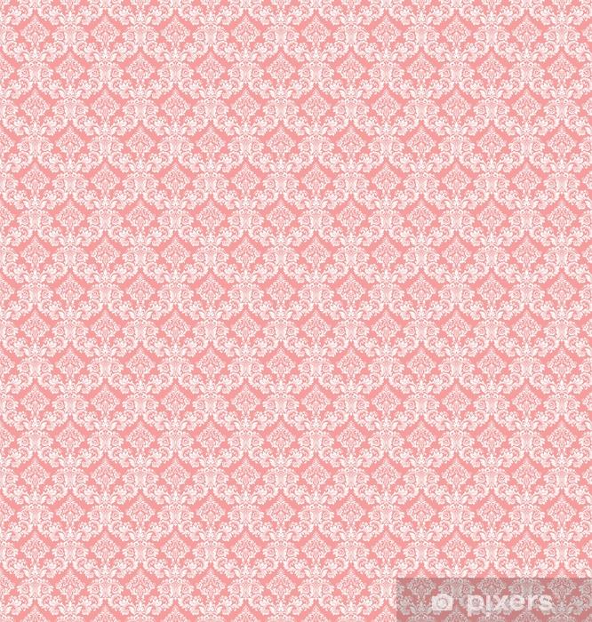 Papier peint vinyle sur mesure Papier peint dans le style baroque. un fond vectorielle continue. ornement floral blanc et rose. motif graphique pour tissu, papier peint, emballage. ornement fleuri damassé - Ressources graphiques