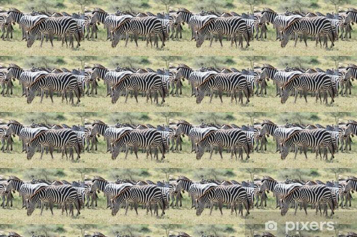 Zebras Vinyl Custom-made Wallpaper - Themes
