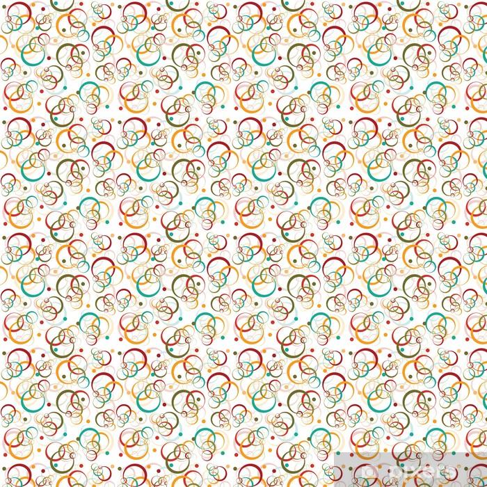 Sirkler og prikker retro mønster