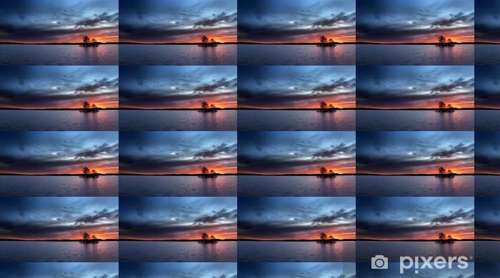 Tapeta na wymiar winylowa Wyspa w zachodzie słońca - Niebo