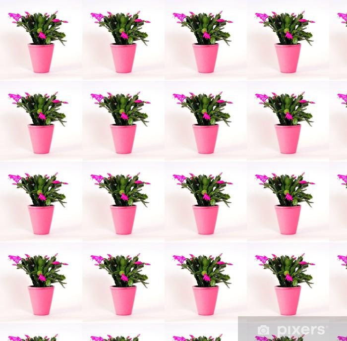 Papier peint vinyle sur mesure Cactus rose de Pâques en pot de fleurs - Saisons