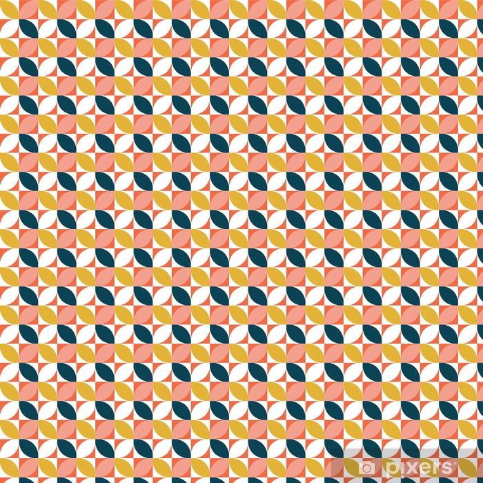 Papel pintado estándar a medida Colorido sin patrón geométrico. estilo de mediados de siglo. fondo del vector - Recursos gráficos