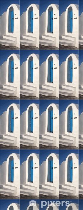 Papier peint vinyle sur mesure Porte bleue - Europe