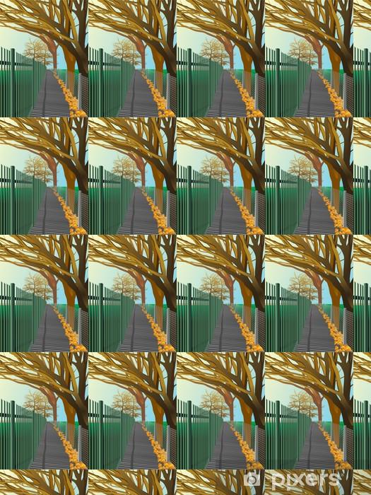 Vinyltapete nach Maß Herbst. Vektor - Jahreszeiten