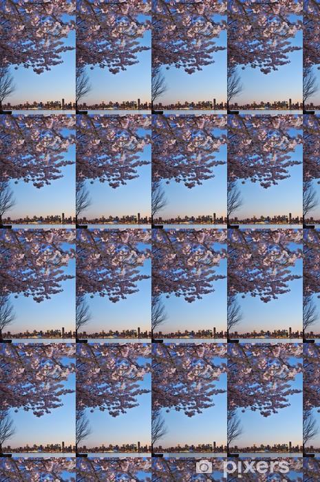 Tapeta na wymiar winylowa Cherry Blossom i downtown Vancouver - Pejzaż miejski