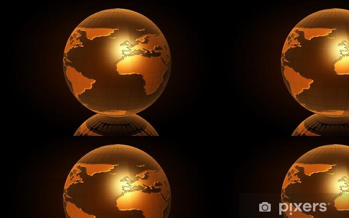 Vinyltapet Earth (3D) - Forretningskonsepter
