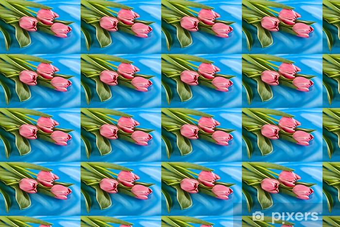 Vinylová tapeta na míru Kytice z tulipánů pestrých - Květiny