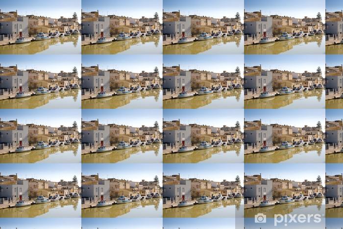 Özel Boyutlu Vinil Duvar Kağıdı Balıkçı tekneleri, Mazara del Vallo, İtalya - Avrupa