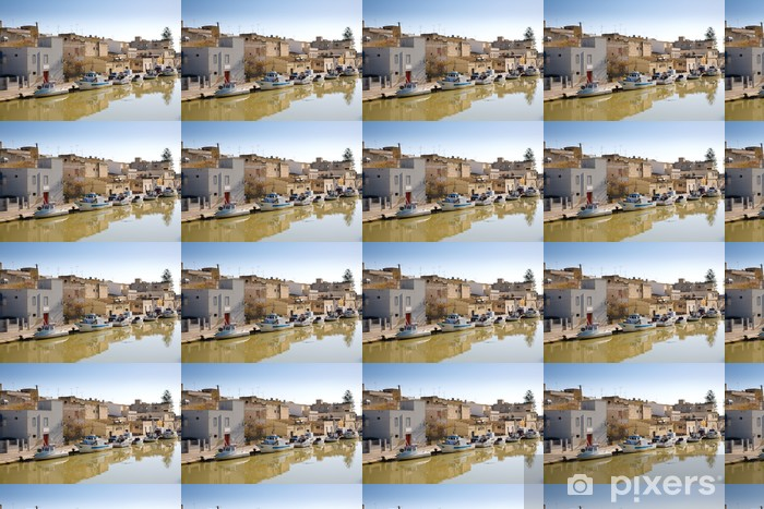 Fishing boats, Mazara del Vallo, Italy Vinyl Custom-made Wallpaper - Europe