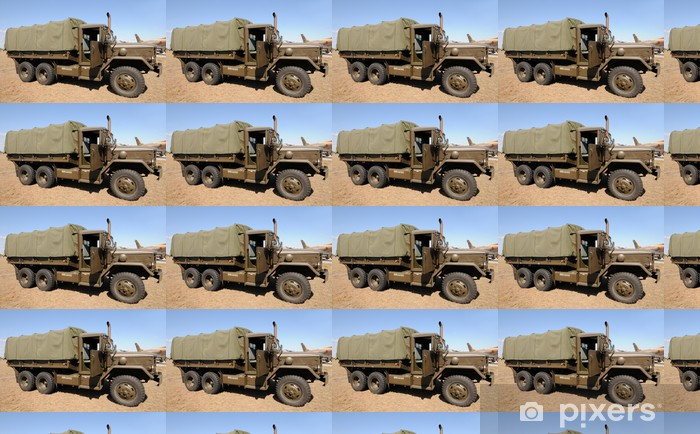 Army truck Vinyl custom-made wallpaper - On the Road