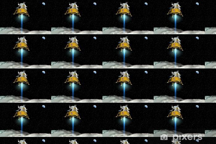 Vinyl behang, op maat gemaakt Landung der Apollo Mondfähre - Ruimte
