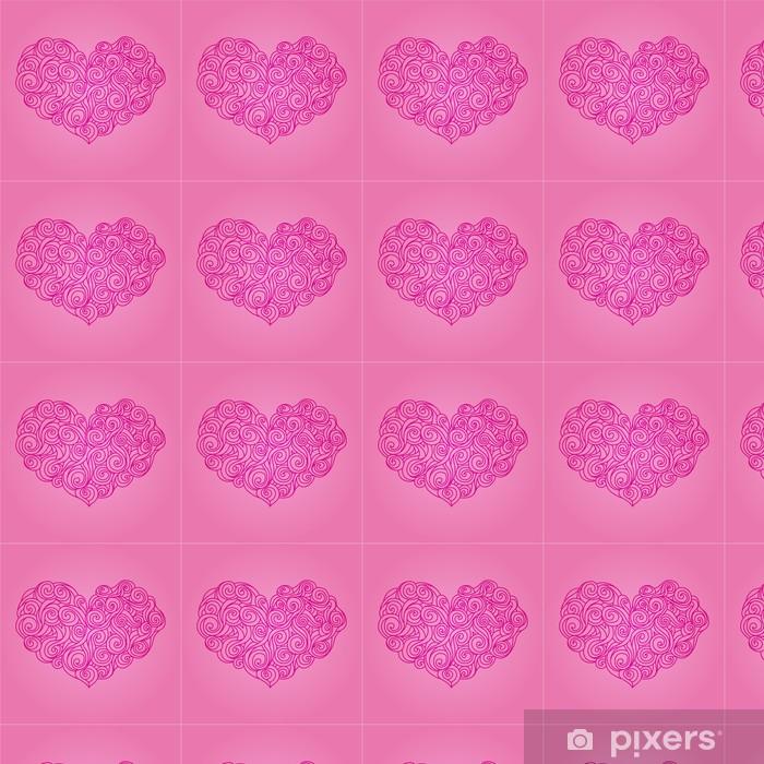 Vinyltapete nach Maß Pink Heart - Vorlagen