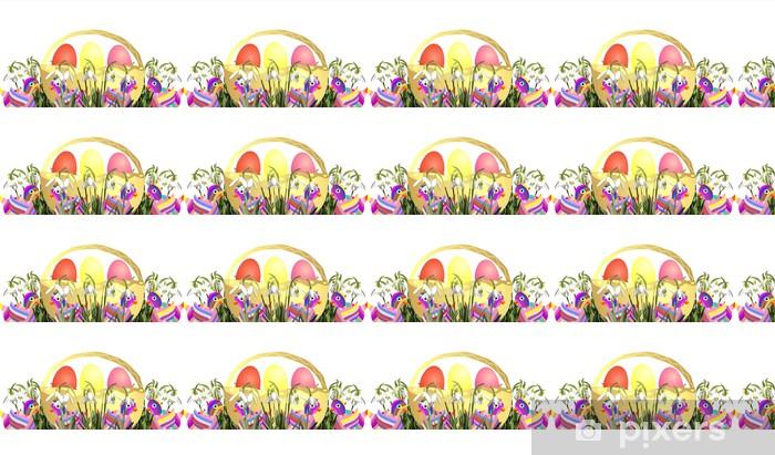 Tapeta na wymiar winylowa Wielkanocny koszyk - Wielkanoc