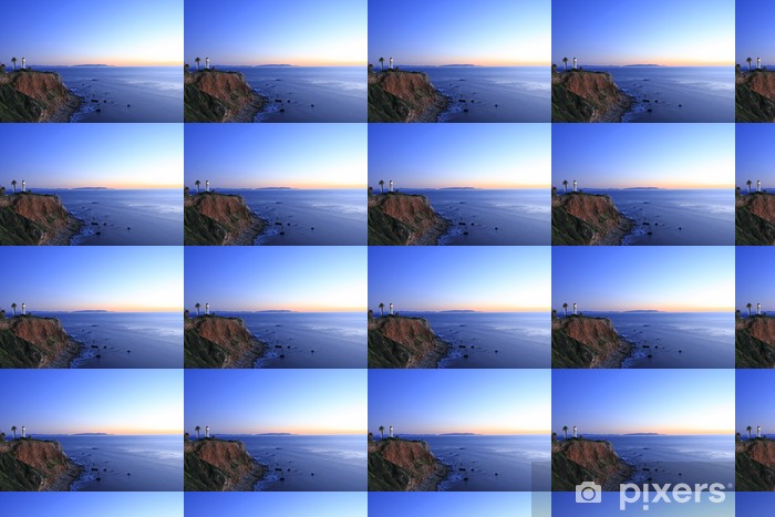 Tapeta na wymiar winylowa Zachód słońca na punkt Vicente latarni w nocy - Ameryka