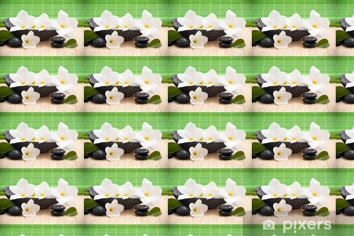 Tapeta na wymiar winylowa Zen kompozycja z kwiatów frangipani - Kwiaty
