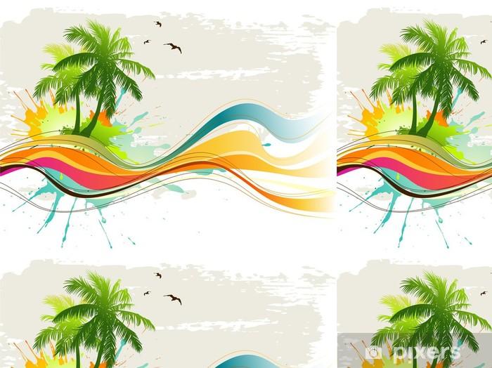 Tropisk baggrund Vinyltapet -