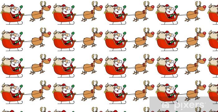 Papier peint vinyle sur mesure Fatigué Rudolph vol Kris Kringle dans son traîneau - Fêtes internationales