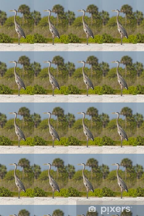 Heron on Sanibel Island Beach Vinyl custom-made wallpaper - Holidays
