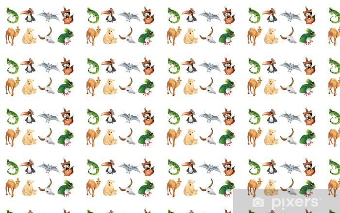 Papel de parede em vinil à sua medida animales caricatura en vector - Outros Sentimentos
