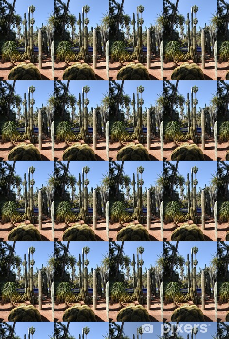 Vinyltapete nach Maß Jardin Majorelle - Le jardin de cactus - Urlaub