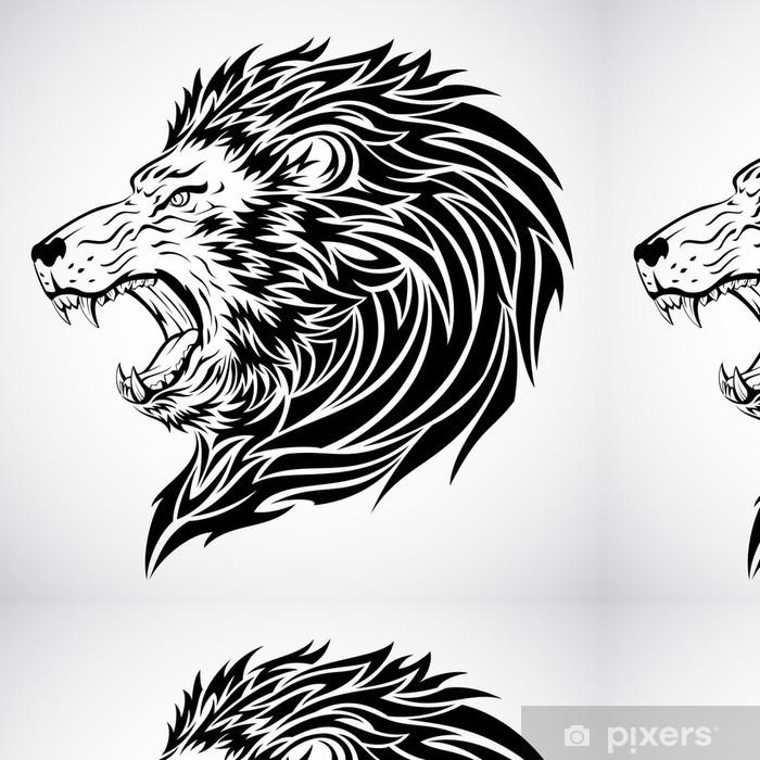 Lion Tattoo Vinyl Wallpaper - Imaginary Animals