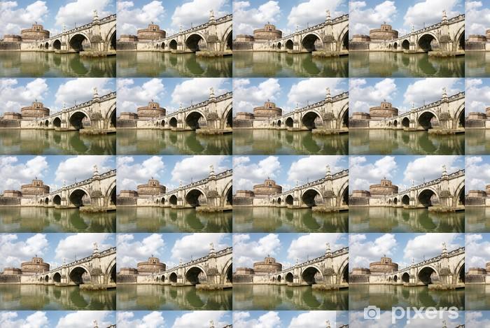 Tapeta na wymiar winylowa Most starszy i Zamek Świętego Anioła w Rzymie - Tematy