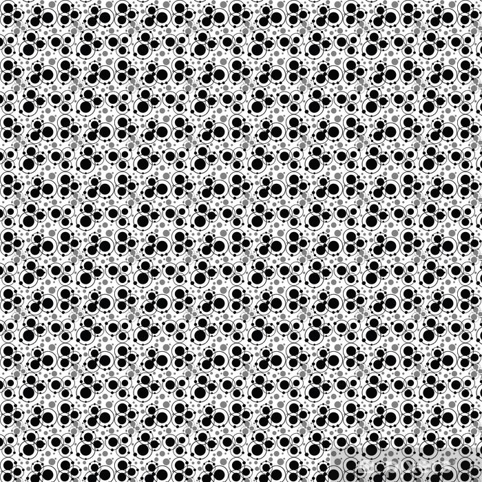 Musta ympyrät ja pisteet kuvio, abstrakti tausta Räätälöity vinyylitapetti -