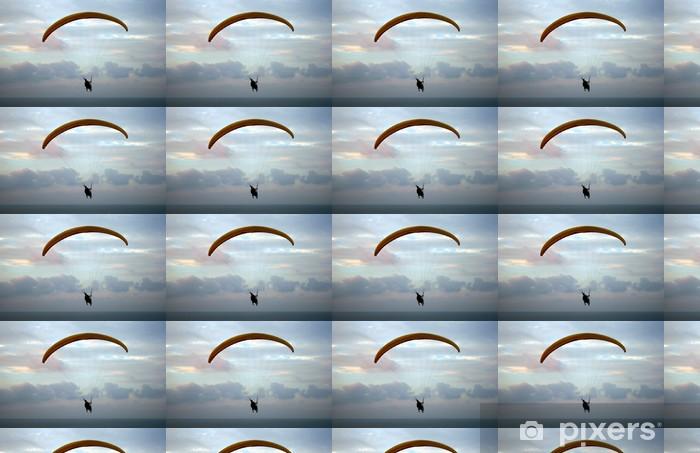 Tapeta na wymiar winylowa Lot paraplan powyżej Morza Śródziemnego na zachodzie słońca - Sporty ekstremalne