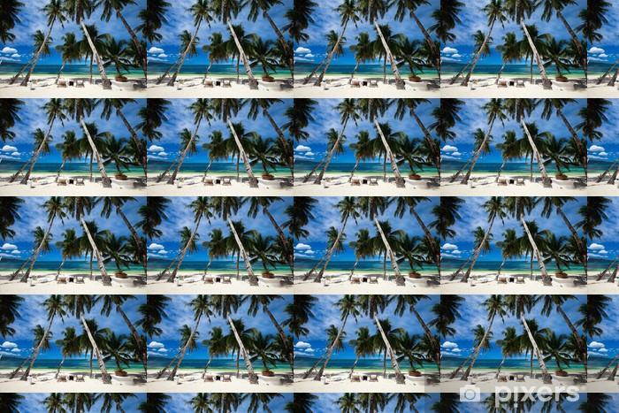 Vinylová tapeta na míru Tropické resort - Prázdniny