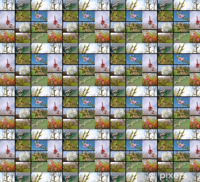 Tapeta na wymiar winylowa Collage drzewa owocowe - Pory roku
