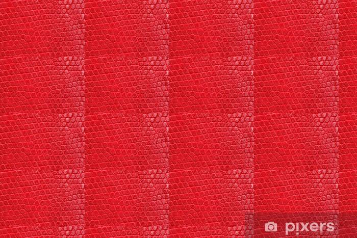 Tapeta na wymiar winylowa Skóropodobnym czerwonego tekstury bliska. powtarzając wzór. - Tekstury